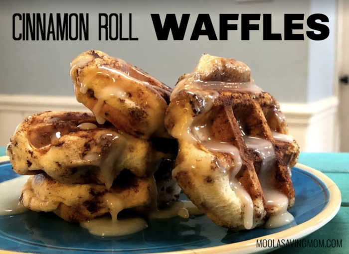 Canned Cinnamon Roll Waffles